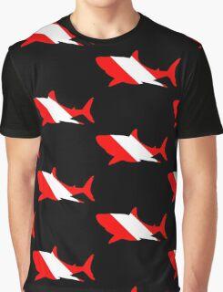 Shark Dive Flag Graphic T-Shirt