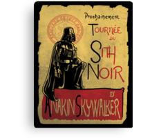 Tournee du Sith Noir Canvas Print
