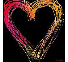 Messy hearts light the dark. Photographic Print