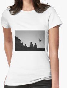Twilight Flight BW Womens Fitted T-Shirt