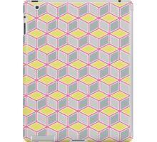 Tumbling Blocks, Pink/Yellow iPad Case/Skin