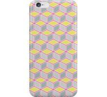 Tumbling Blocks, Pink/Yellow iPhone Case/Skin