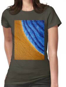 Shoreline original painting Womens Fitted T-Shirt