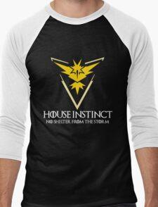 House Instinct v2 (GOT + Pokemon GO) white Men's Baseball ¾ T-Shirt