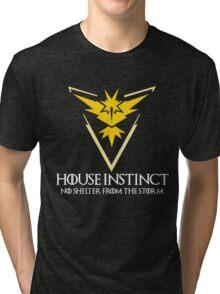 House Instinct v2 (GOT + Pokemon GO) white Tri-blend T-Shirt