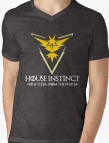 House Instinct v2 (GOT + Pokemon GO) white Mens V-Neck T-Shirt