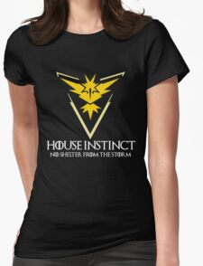 House Instinct v2 (GOT + Pokemon GO) white Womens Fitted T-Shirt