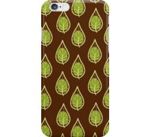 leaves on a brown background iPhone Case/Skin