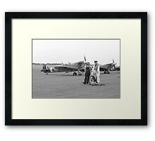 The CO, the Spit, and the Land Girl  Framed Print