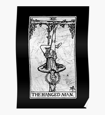 The Hanged Man Tarot Card - Major Arcana - fortune telling - occult Poster