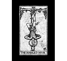 The Hanged Man Tarot Card - Major Arcana - fortune telling - occult Photographic Print