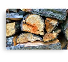 Seasoned Firewood Canvas Print