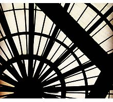 Black Bars Radial Revolve Pattern Photographic Print