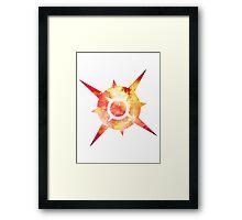 Pokémon Sun Logo Space Framed Print