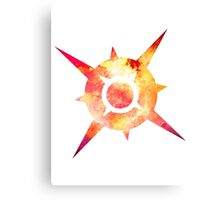 Pokémon Sun Logo Space Canvas Print