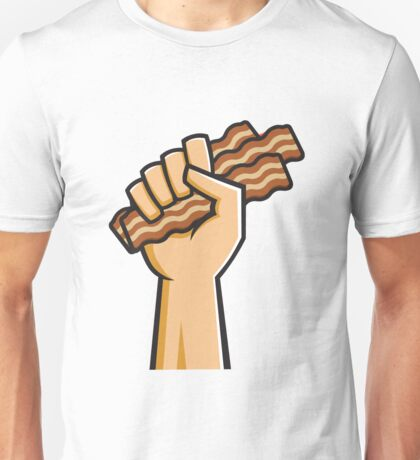 Hand holding Bacon Unisex T-Shirt