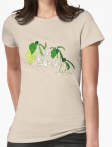 Angel's Trumpet Womens Fitted T-Shirt