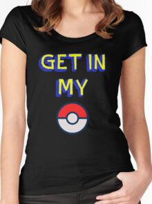 Get In My Pokeball Women's Fitted Scoop T-Shirt