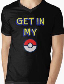 Get In My Pokeball Mens V-Neck T-Shirt