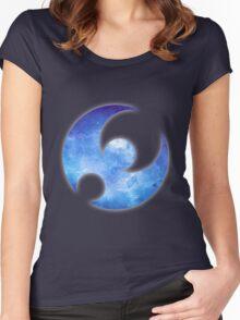 Pokémon Moon Logo Space Women's Fitted Scoop T-Shirt