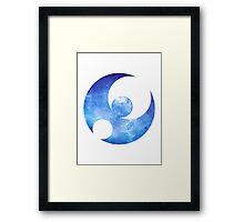Pokémon Moon Logo Space Framed Print