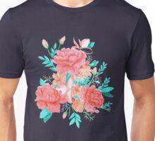 Watercolor floral print Unisex T-Shirt