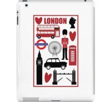 Travel London - Vintage Travel Poster iPad Case/Skin