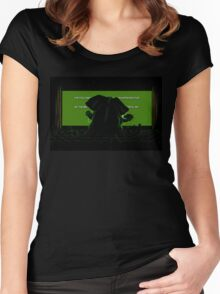 Down in front Women's Fitted Scoop T-Shirt