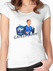 Antoine Griezmann - France Euro 2016 Women's Fitted Scoop T-Shirt