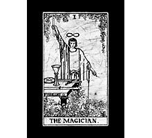 The Magician Tarot Card - Major Arcana - fortune telling - occult Photographic Print