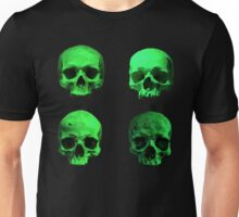 Skull quartet green Unisex T-Shirt