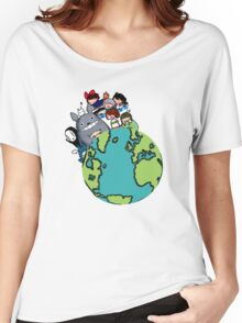 Totoro And Family Women's Relaxed Fit T-Shirt
