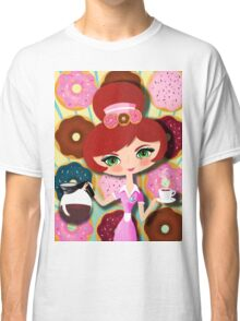 Hot Coffee And Fresh Donuts Classic T-Shirt