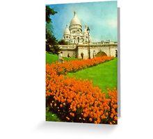 Sacre Coeur, Paris, France Greeting Card