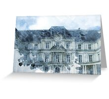 Architecture Watercolor Print Greeting Card