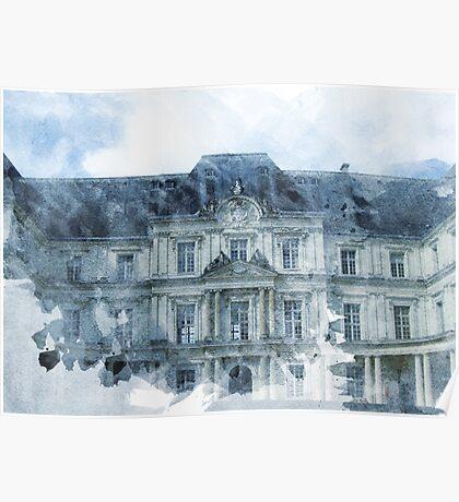 Architecture Watercolor Print Poster