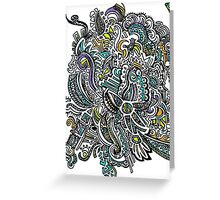 Colorful Rays of Sun Doodle Greeting Card