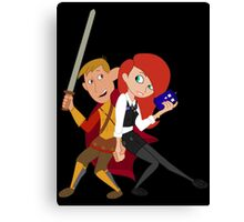 Kim & Ron Cosplay Amy & Rory Canvas Print