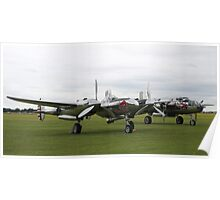'Bulls with Wings' - P-38 Lightning & B-25 Mitchell Poster