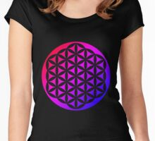 Flower of Life Rainbow 3 Women's Fitted Scoop T-Shirt