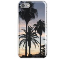 Palm trees and sun set iPhone Case/Skin