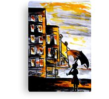 Lady in the street Canvas Print
