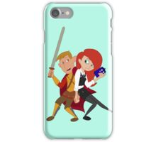 Kim & Ron Cosplay Amy & Rory iPhone Case/Skin