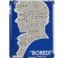 Sherlock Quote iPad Case/Skin