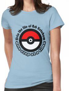 pokemon ash ketchum Womens Fitted T-Shirt