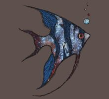 Angelfish in Space Kids Clothes