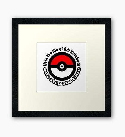 pokemon ash ketchum Framed Print