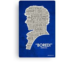 Sherlock Quote Canvas Print