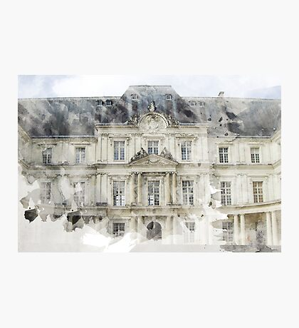 Architecture Watercolor Print Photographic Print