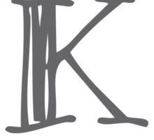 Feather Monogram K Sticker